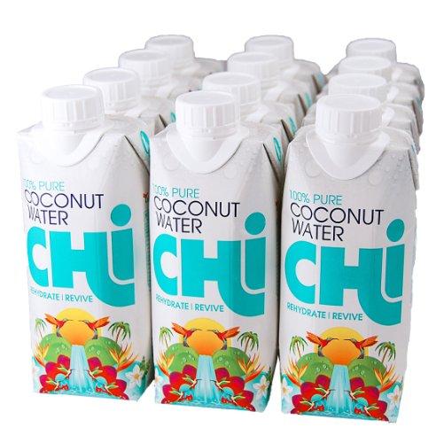 Chi 100% Reines Kokosnuss Wasser (Pure Coconut Water) 330ml, 12er Pack (12 x 330 ml)