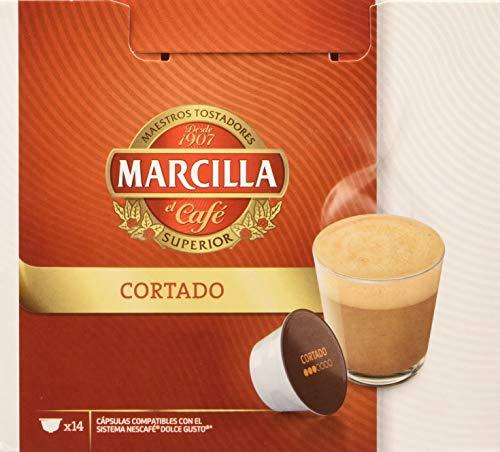MARCILLA Cortado - cápsulas compatibles con las cafeteras Nescafé(R)* Dolce Gusto(R)* | 3 paquetes de 14 cápsulas - Total 42...
