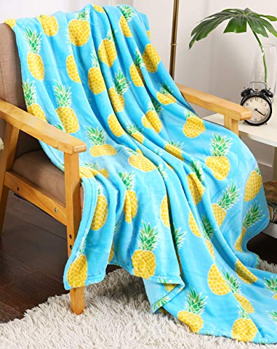 Summertime Whimsy Plush Fleece Throw Blanket (50