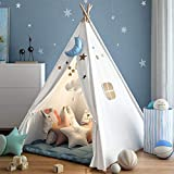 Wilwolfer Teepee Tent for Kids Foldable Children Play Tents...