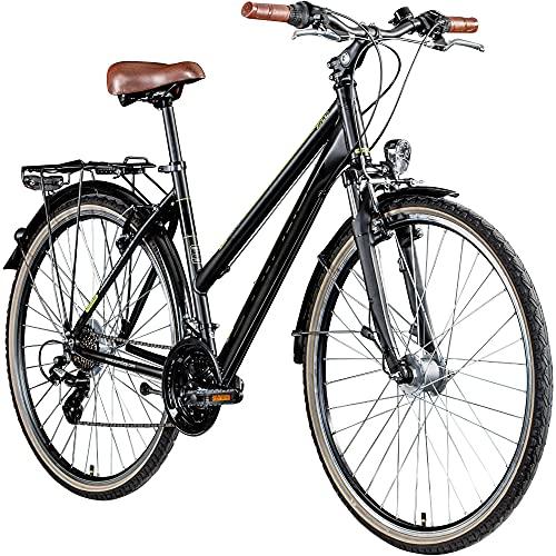 Zündapp T700 700c Trekkingrad Damen Fahrrad Trekking 28 Zoll Trekkingfahrrad StVZO (schwarz, 45 cm)