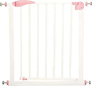 Liu Weiqin Child safety door guardrail heightening thick punch-free baby 100cm cat dog stairs protection fence  Size 65-72cm