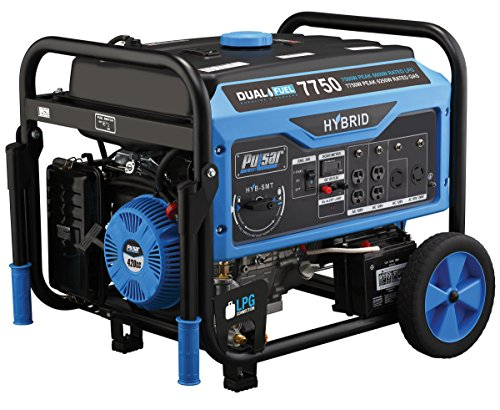 Pulsar 7, 750W Dual Fuel Portable Generator with Switch & Go Technology, PG7750B