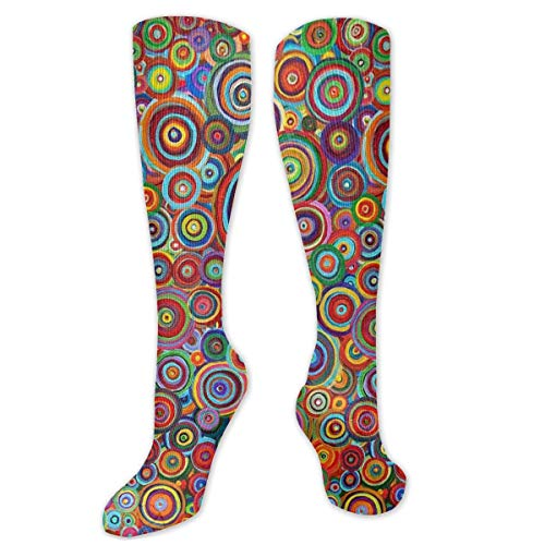 antcreptson Psychedelic Trippy Art Candle Women's Men's Cool 3D Print Funny Crazy Colorful Athletic Sport Crew Tube Socks