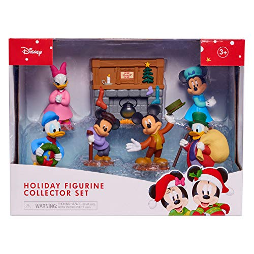 Disney Holiday Figurine Collector Set, 7 Piece Set from Mickey Mouse's Christmas Carol, Includes Mickey Mouse, Minnie Mouse, Mortie Mouse, Donald Duck, Daisy Duck, Scrooge McDuck, by Just Play