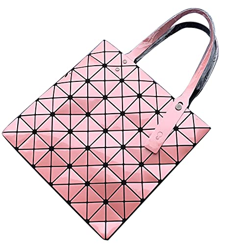 QIANJINGCQ Mode PU Matte Diamant Casual Folding Geometrische Diamant Einzelne Schulter Handtasche Damen Umhängetasche Rucksack