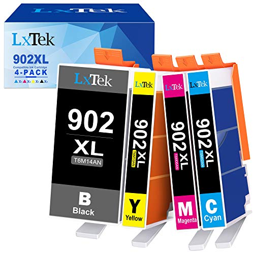 LxTek Compatible Ink Cartridge Replacement for HP 902XL 902 XL Ink Cartridge to use with Officejet 6978 6968 6962 6958 Printer (4 Pack) Georgia