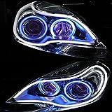 HopeU5® 2x LED Auto Auto Guida del tubo 30CM Guida flessibile per strisce LED auto bicolore Impermeabile Impermeabile DRL Luce di direzione