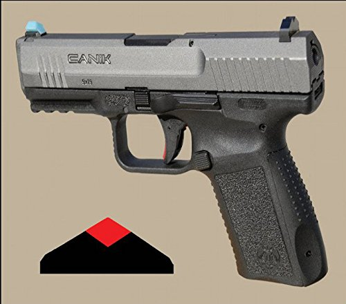 Advantage Tactical Standard Kit Dark Diamond Glow in The Dark Front and Rear Adjustable Night Pistol Sights for Canik TP9SF