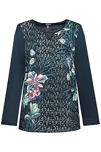 GINA LAURA dames shirt, letters, bloemenprint blouse