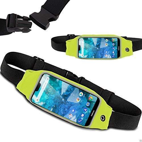 Banda de cintura para Nokia 7.1 – para ejercicio, correr, ciclismo, gimnasio, deporte y más banda de cintura, soporte para teléfono para Nokia 7.1