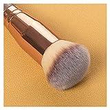 YNLRY 1 unids Khaki Foundation Cepill Cara Maquillaje Pinceles Herramientas para Fundación Polvo Suelto Contorno Maquillaje Cepillo Mujeres Belleza Cosmética (Color : 1)