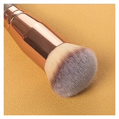 GZA 1 unids Khaki Foundation Cepill Cara Maquillaje Pinceles Herramientas para Fundación Polvo Suelto Contorno Maquillaje Cepillo Mujeres Belleza Cosmética (Color : 1)