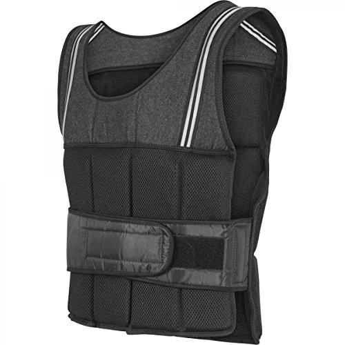 GORILLA SPORTS® Gewichtsweste 10 kg Schwarz für Fitness und Laufen