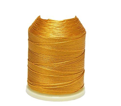 Perlin Altinbasak - Hilo de ganchillo de 20g, 300m, 6vueltas, 0,75mm, n.º: 50, depoliéster, color dorado, 300 m, hilo de ganchillo, IP672.