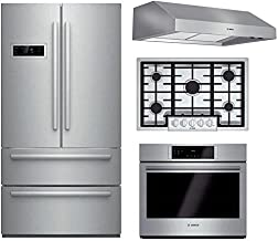 Bosch 4-Piece Stainless Steel Kitchen Package with B21CL80SNS 36