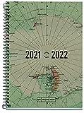 Miquelrius - Agenda Escolar 2021-2022, Tamaño Activa 11.7 x 17.4 cm, Día Página, Recycled Map, Idioma Español
