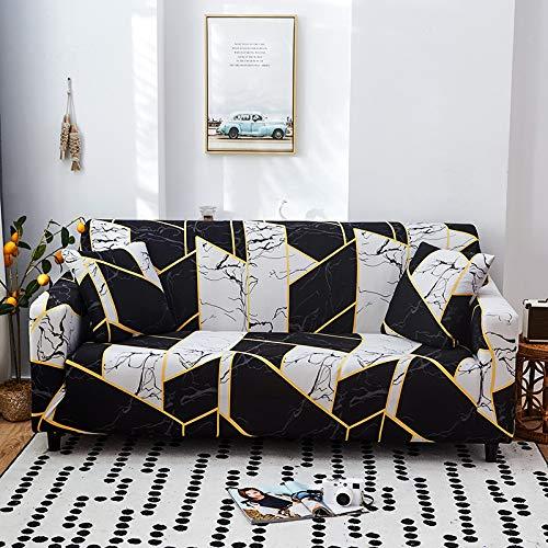 NOBCE Fundas elásticas Funda de sofá elástica seccional elástica para Sala de Estar Funda de sofá en Forma de L Funda de sillón 90-140CM