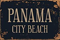 アルミメタルノベルティ危険サインイン、パナマシティービーチ、レトロアイアンペインティングメタルポスター警告プラークアートデコレーションガレージホームガーデンストアバーカフェアキュート