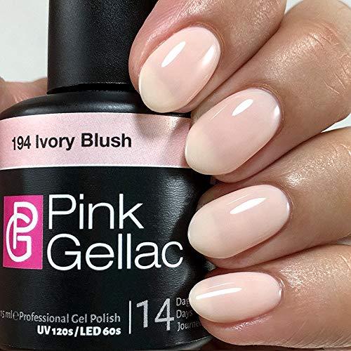 Color de pintauñas permanente Pink Gellac 194 Ivory Blush. Esmalte de gel, calidad...