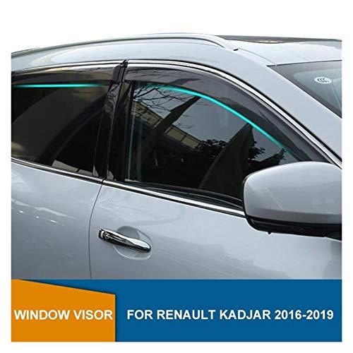 ZLLD Windabweiser Für Renault Kadjar Dynamique 2016 2017 2018 2019 Seitenfenster Deflektor Fenstervisier Sonnenregen Deflektor Wachen Hintere Windabweiser