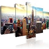 murando Quadro 200x100 cm 5 pezzi Stampa su tela in TNT XXL Immagini moderni Murale Fotografia Grafica Decorazione da parete New York Quadro 030211-62