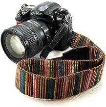 Electomania® Universal Color Stripes Soft Red Camera Neck Straps Shoulder Strap Belt Grip for DSLR Nikon Canon Panasonic S...