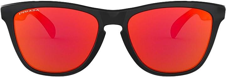 Occhiali oakley frogskins, occhiali unisex-adulto, lucidato trasparente/viola iridio, taglia unica