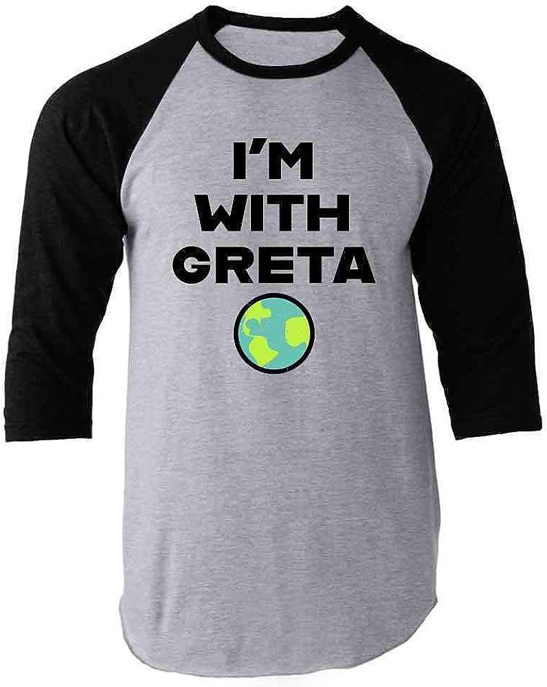 Earth Day Climate Change I'm with Greta Science Raglan Baseball Tee Shirt
