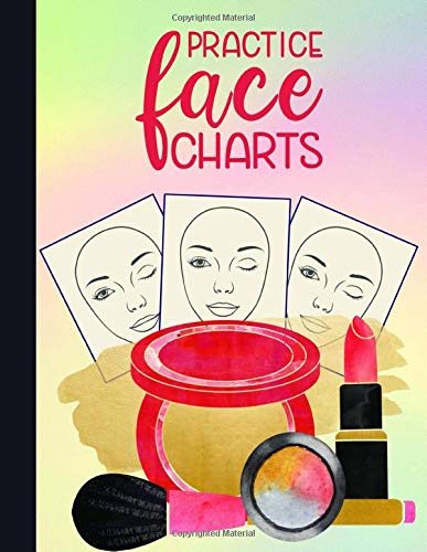 Practice Face Charts: Blank Practice Face Charts for Makeup Portfolio Book