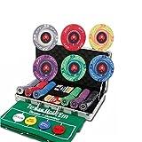 KOUPA 300 Poker Chip Set with Aluminum Storage Box- Ceramic Material, 10 Gram Casino Poker Chips- Leisure toys...