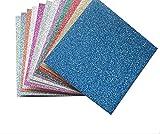 ROSENICE Hojas de papel Origami con purpurina de colores para proyectos de arte y manualidades, 15 x...