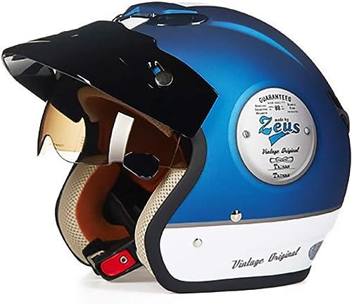 ETH Mute Blau ABS Erwachsenen fürradhelm Reiten Elektroauto Motorrad Helm fürrad Mountainbike Helm Outdoor-Reitausrüstung Qualität (Größe   XXL)