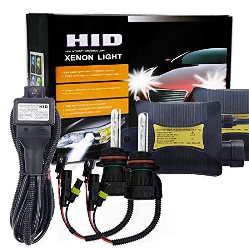 HKY-LIGHT Bombilla de Coche 55W 9004/9007 / HB1 / HB5 4300K Juego de conversión de xenón OCULTADO con Descarga de Alta Intensidad, lastre Delgado, Blanco cálido