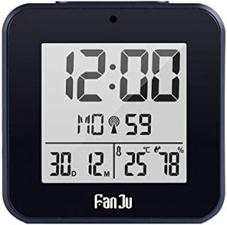 Digital Alarm Clock Led Dcf Radio Dual Alarm Automatic Backlight Electronic Temperature Humidity Table Time Office Gift