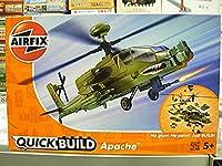 AIRFIX J6004 クイックビルドシリーズ アメリカ軍 アパッチ 塗装済みブロック式組み立てキット