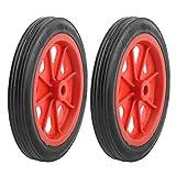 SODIAL(R) 2 x Ruedas 4.4' para Cesta Carro de Compras Reemplazable - Rojo Negro