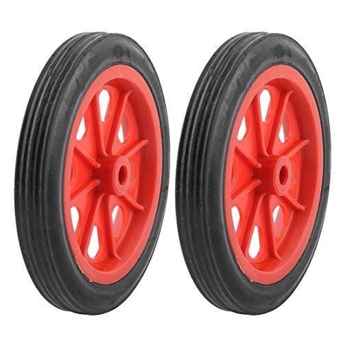 "SODIAL(R) 2 x Ruedas 4.4"" para Cesta Carro de Compras Reemplazable - Rojo Negro"