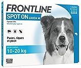 FRONTLINE Spot-on Chien - Anti-puces et anti-tiques pour chien - 10-20kg - 4 pipettes