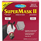 Farnam SuperMask II Horse Fly Mask for Horses, Colors May Vary
