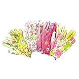 コモライフ 華やか花柄ガーデン手袋(4柄組) 390063