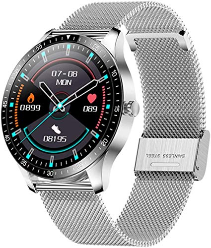 hwbq Reloj Inteligente Hombres s Deportes Impermeable IP68 Sueño Fitness Tracker Mujeres Smartwatch para Android-A