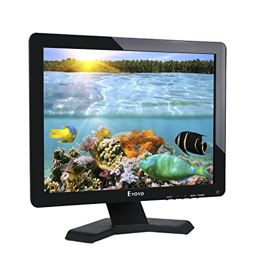 Eyoyo Monitor LCD da 17 pollici Risoluzione 1280x1024 Schermo 4: 3 FHD 1080P HD Video Audio Display HDMI BNC VGA AV USB In / OutG1 Auricolare (17 '' 1280x1024 LCD)cctv