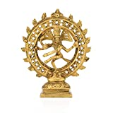 Collectible India Brass Antique Shiva Nataraja Statue Hindu Religious Nataraj Dancing Showpiece Idol Home Temple Pooja Gifts Decor(Size: 6 Inch)