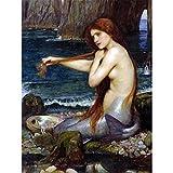 Wee Blue Coo John William Waterhouse Mermaid Old Master