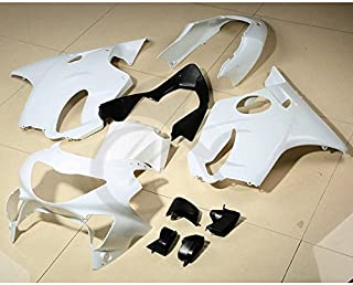 TCMT ABS Plastic INJECTION Unpainted White Motorcycle Fairing Bodywork Kit Fits For Honda CBR600F4 CBR 600 F4 1999-2000