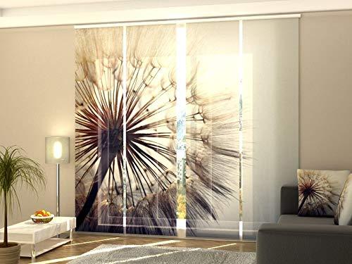 Wellmira Fotogardine, Flächenvorhang, Fotodruck, Schiebevorhang, Bedruckte Schiebegardinen, Gardine mit Motiv, auf Maß (4 x 275x60)