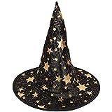 B Baosity Sombrero Puntiagudo de Halloween de Disfraces Traje Negro de La Bruja Sombrero de Mago de Niños