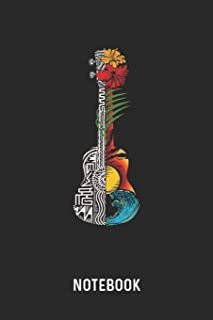 Notebook: Blank & Lined Hawaiian Ukulele Guitar Journal (6