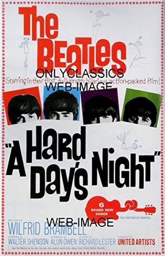 OnlyClassics 1964 The Beatles A Hard Days Night Movie Poster George Paul John Ringo Rock ROLL product image